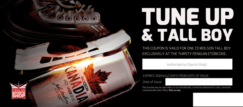 Tune Up and Tall Boy POS Voucher