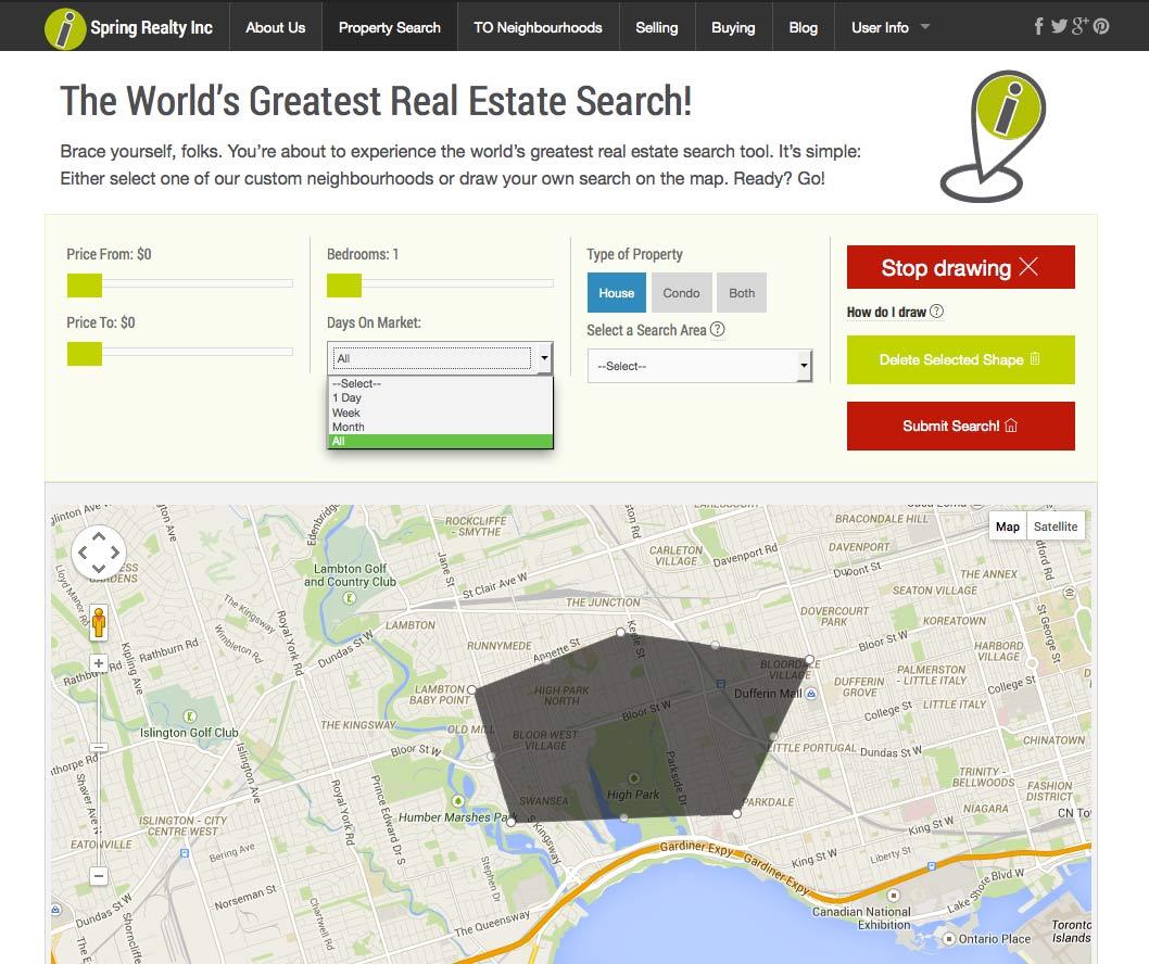 Custom Google Maps search tool
