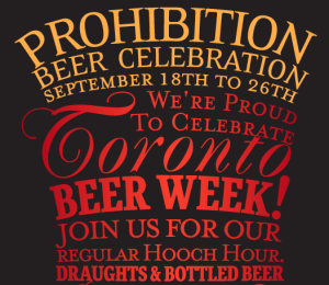 Prohibition Beer Week
