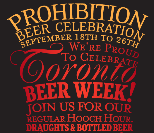 Prohibition Beer Week